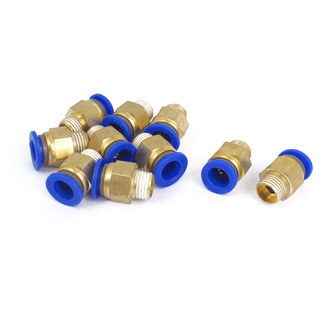 10mm Tube 1/4BSP Male Thread Quick Air Fitting Coupler Connector 10pcs