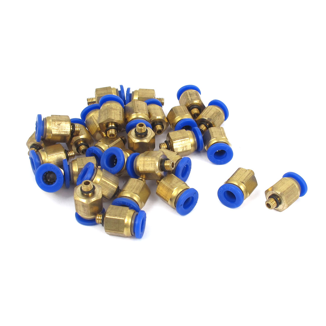 6mm Tube M5 Male Thread Quick Air Fitting Coupler Connector 30pcs
