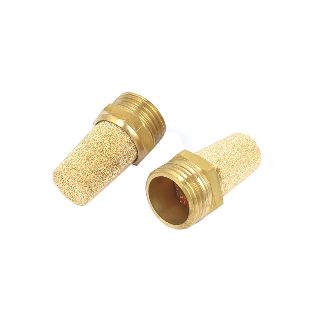 1/2BSP Male Thread Brass Pneumatic Exhaust Silencer Muffler 2pcs