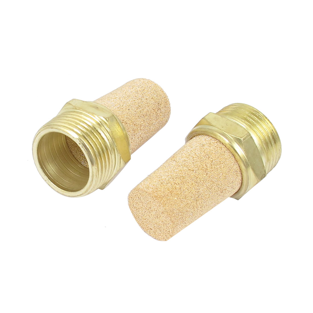 3/4 BSP Male Thread Brass Pneumatic Air Exhaust Breather Muffler Filter 2pcs