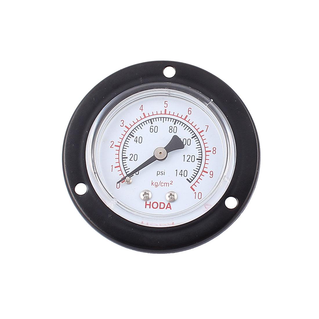 0-140psi 0-10kg/cm2 13mm 1/4PT Thread Dia Dial Air Pressure Gauge
