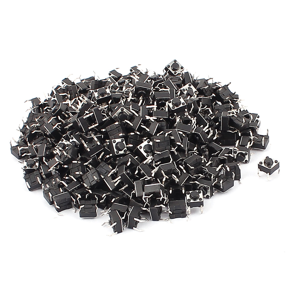 300 Pcs Momentary SMT PCB 4 Pins Tact Tactile Push Button Switch