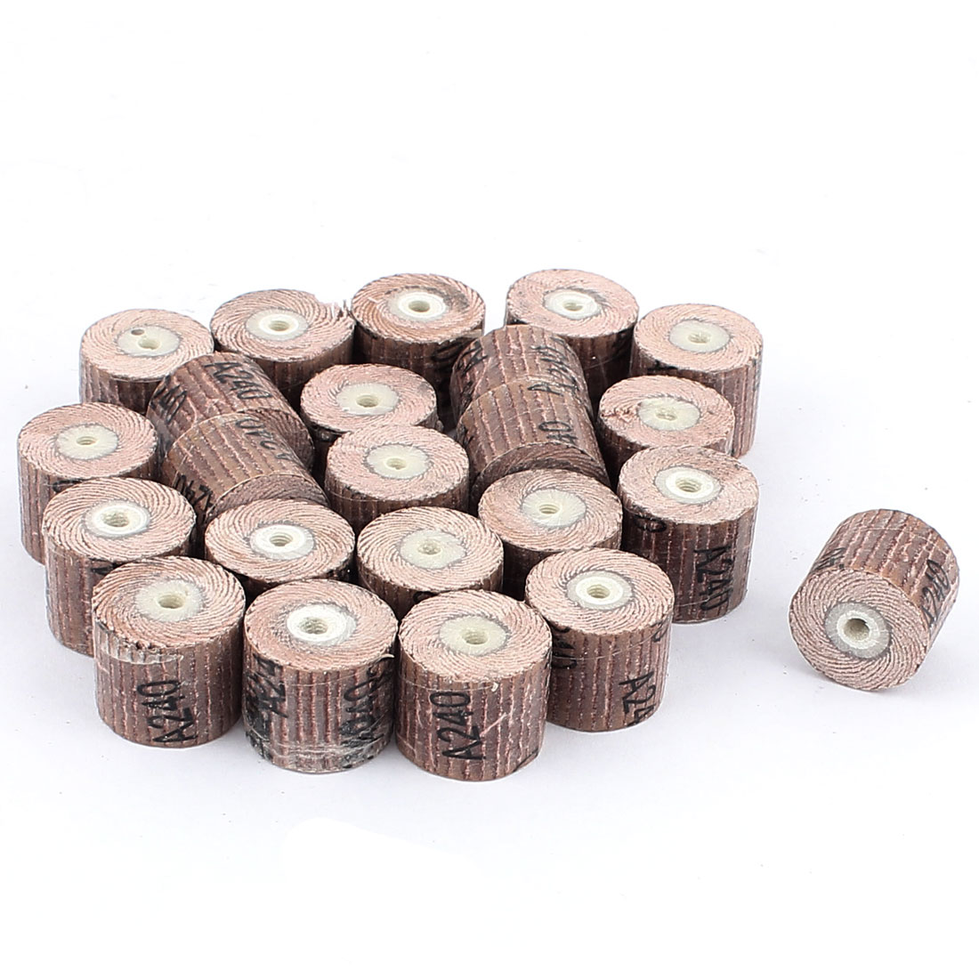23 Pieces 240 Grit 17x14x3mm Emery Cloth Grinding Unmounted Flap Wheel Brush