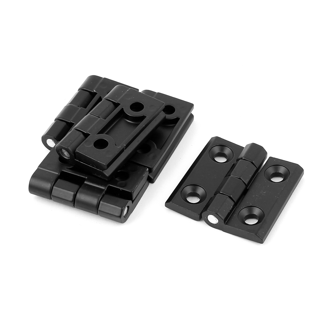 5 Pcs Black 5x5x1CM Aluminum Cabinet Cupboard Furniture Door Butt Hinge