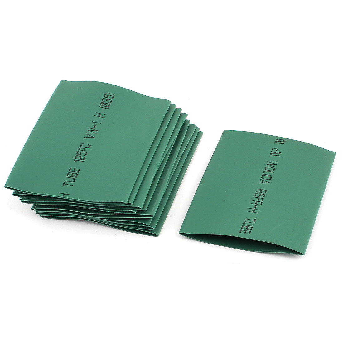 Green 35mm Dia 2:1 Polyolefin Heat Shrink Tubing Shrinkable Tube 77mm 10 Pcs