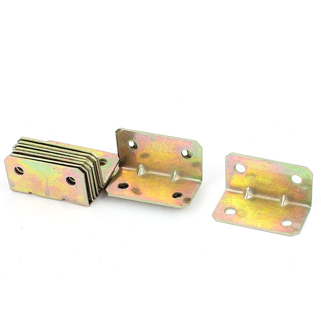 Brass Tone 38x21x20mm 90 Degree Corner Brace Repair Angle Bracket Shelf Support 12 Pcs
