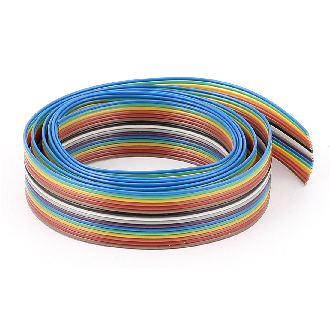 1.27mm Pitch 16 Way F/M Connector Test Line Ribbon Wire Rainbow Color 70CM 2.3Ft