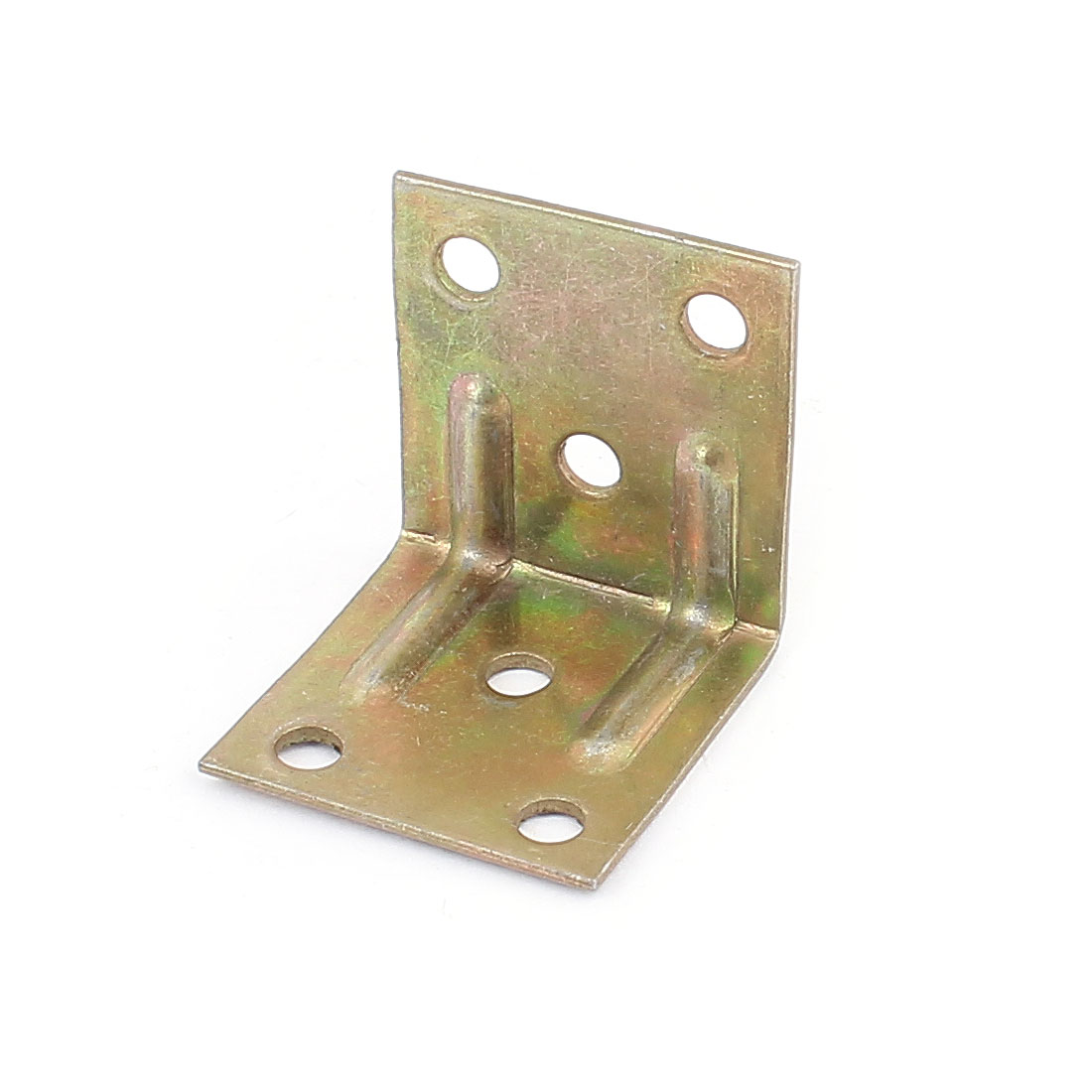 Brass Tone 31x31x29mm 90 Degree Metal Right Angle Bracket Shelf Support