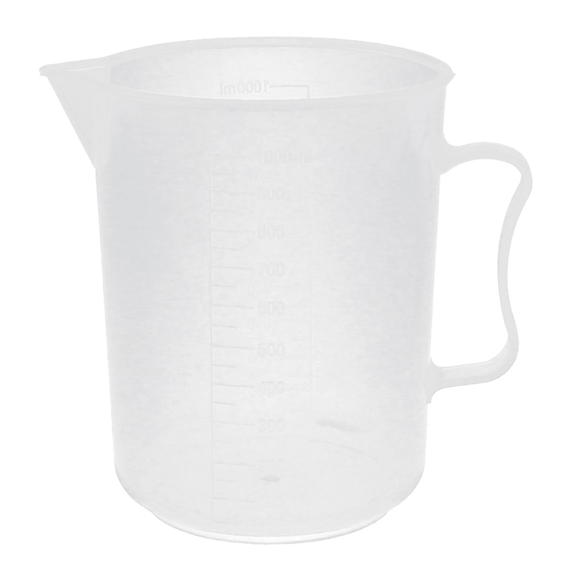1000ml Plastic Laboratory Chemistry Transparent Measuring Cup Handle Design Cup Beaker