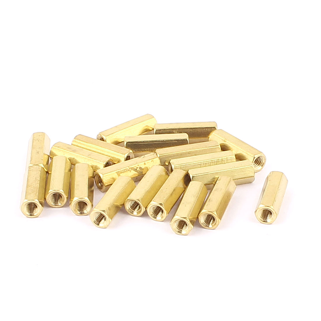 20 Pcs Computer Motherboard M3 x 15mm Female Standoffs Screw Hex Spacer