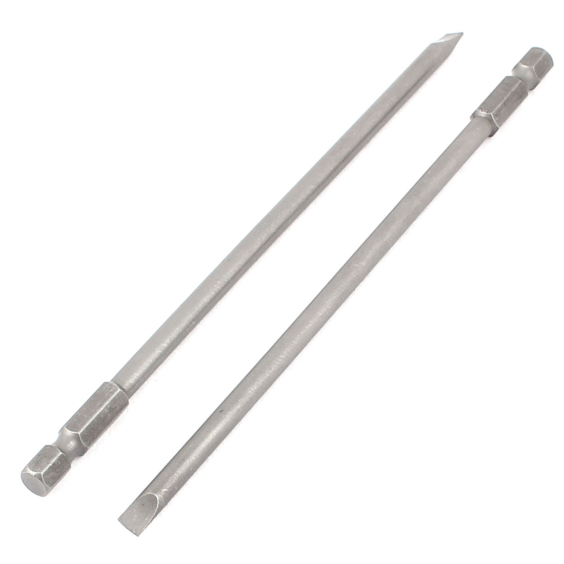 2 Pcs JANPAN S2 Magnetic Slotted Electric Screwdriver Bits Hex Head 6mm x 150mm