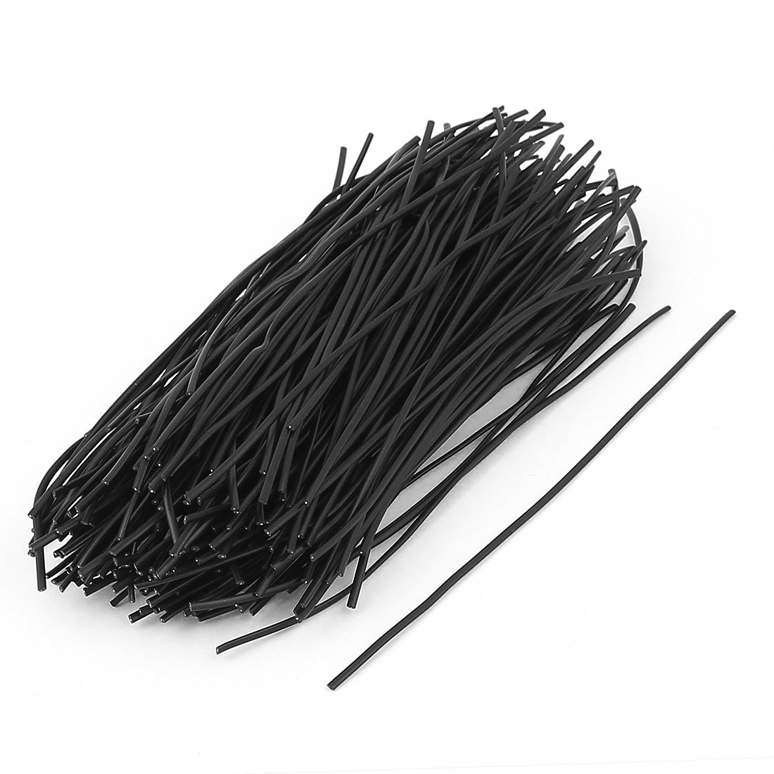 200 Pcs Plastic Shell Package Reusable Twist Ties Cable Wires Fasteners Black 150mm Long