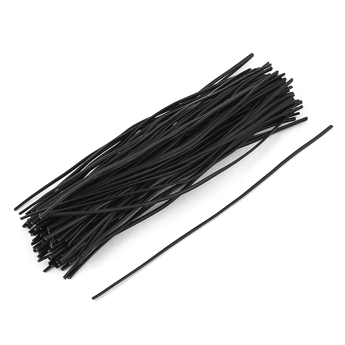 100 Pcs Plastic Shell Package Reusable Twist Ties Cable Wires Fasteners Black 150mm Long
