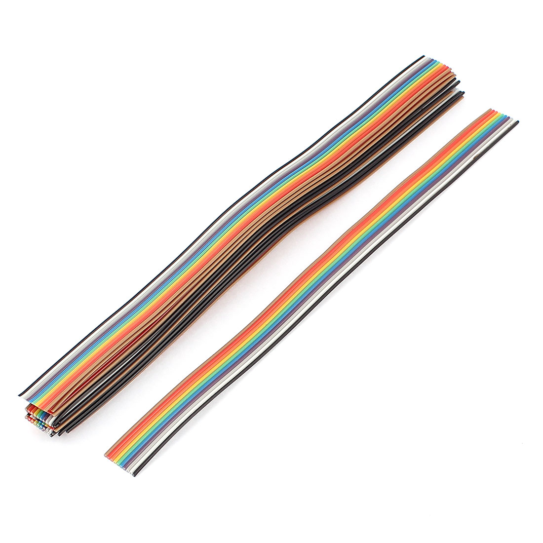 15 Pcs 200mm Long 10-Pin Rainbow Color Flat Ribbon Cable IDC Wire
