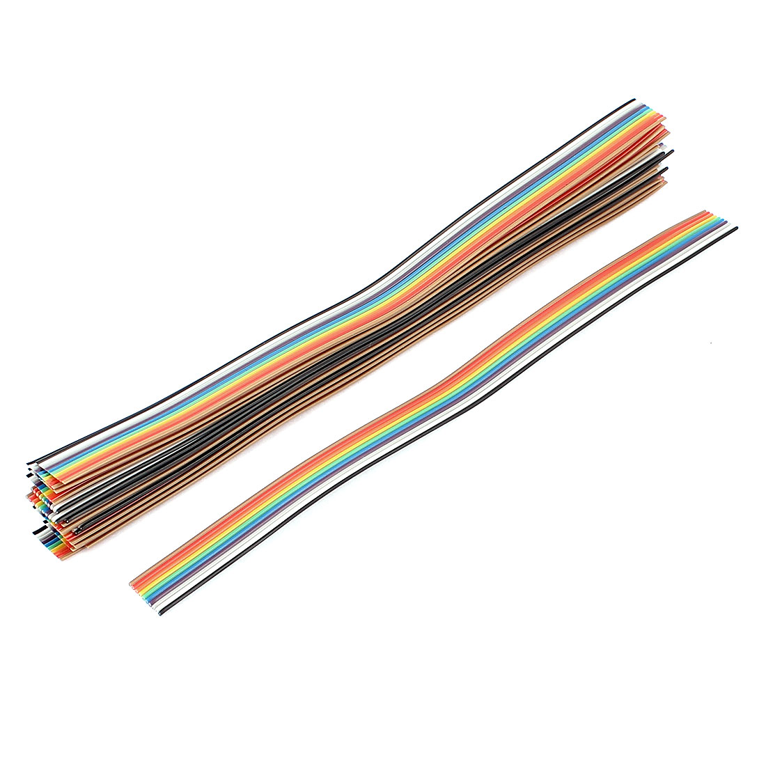 20 Pcs 200mm Long 10-Pin Rainbow Color Flat Ribbon Cable IDC Wire