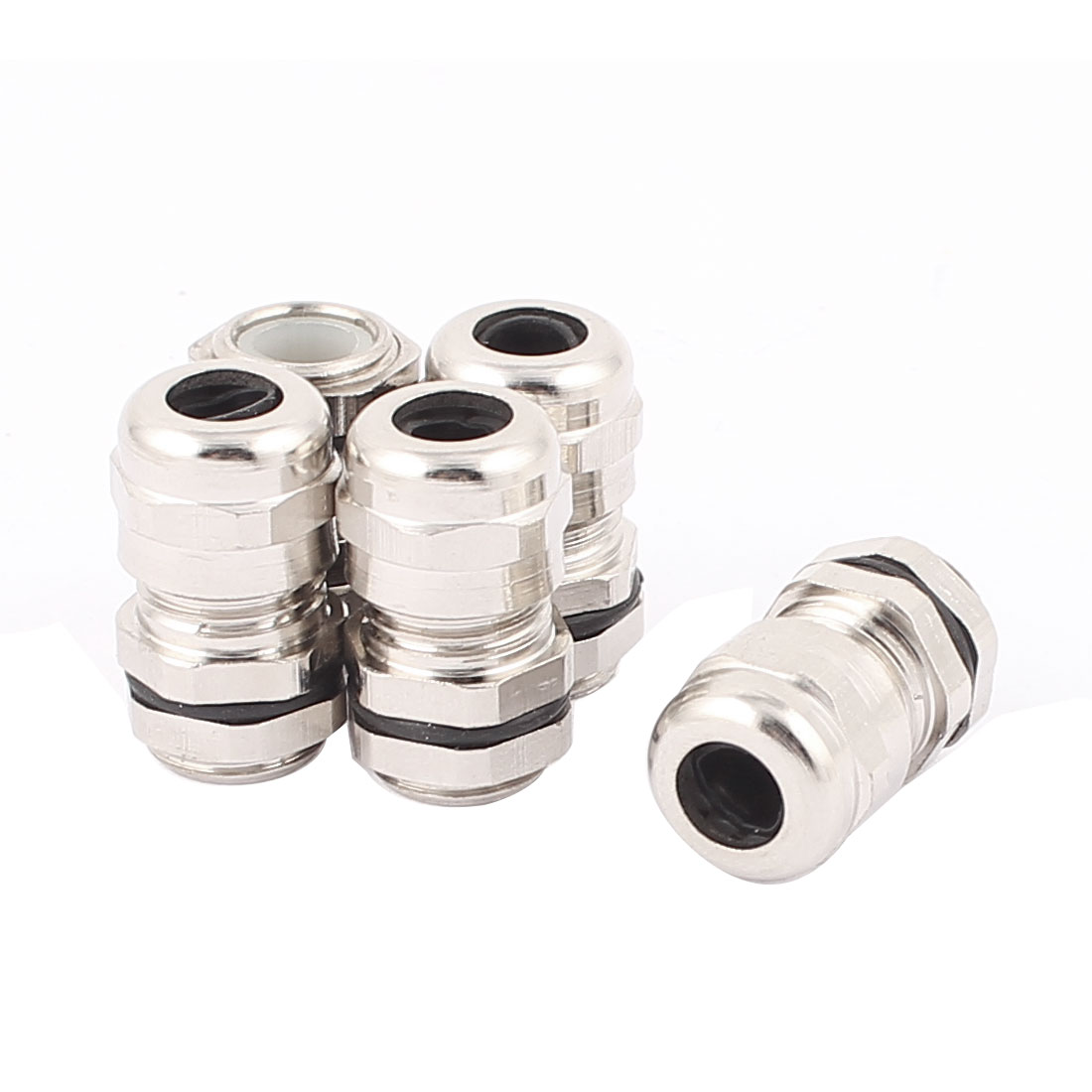 5 Pcs PG7 Metal Waterproof Locknut Stuffing Cable Gland Connector