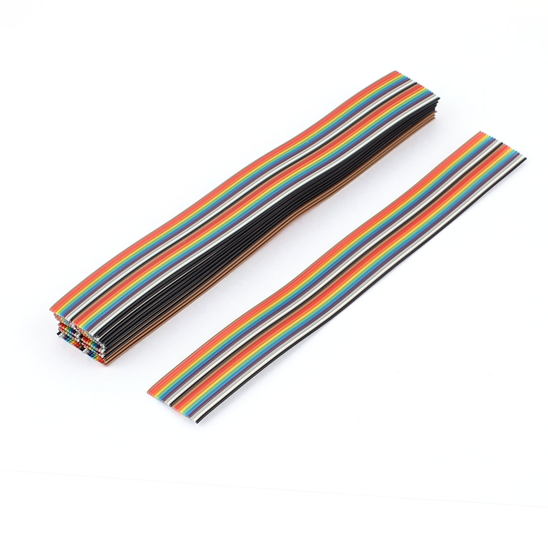 20 Pcs 200mm Long 20-Pin Rainbow Color Flat Ribbon Cable IDC Wire