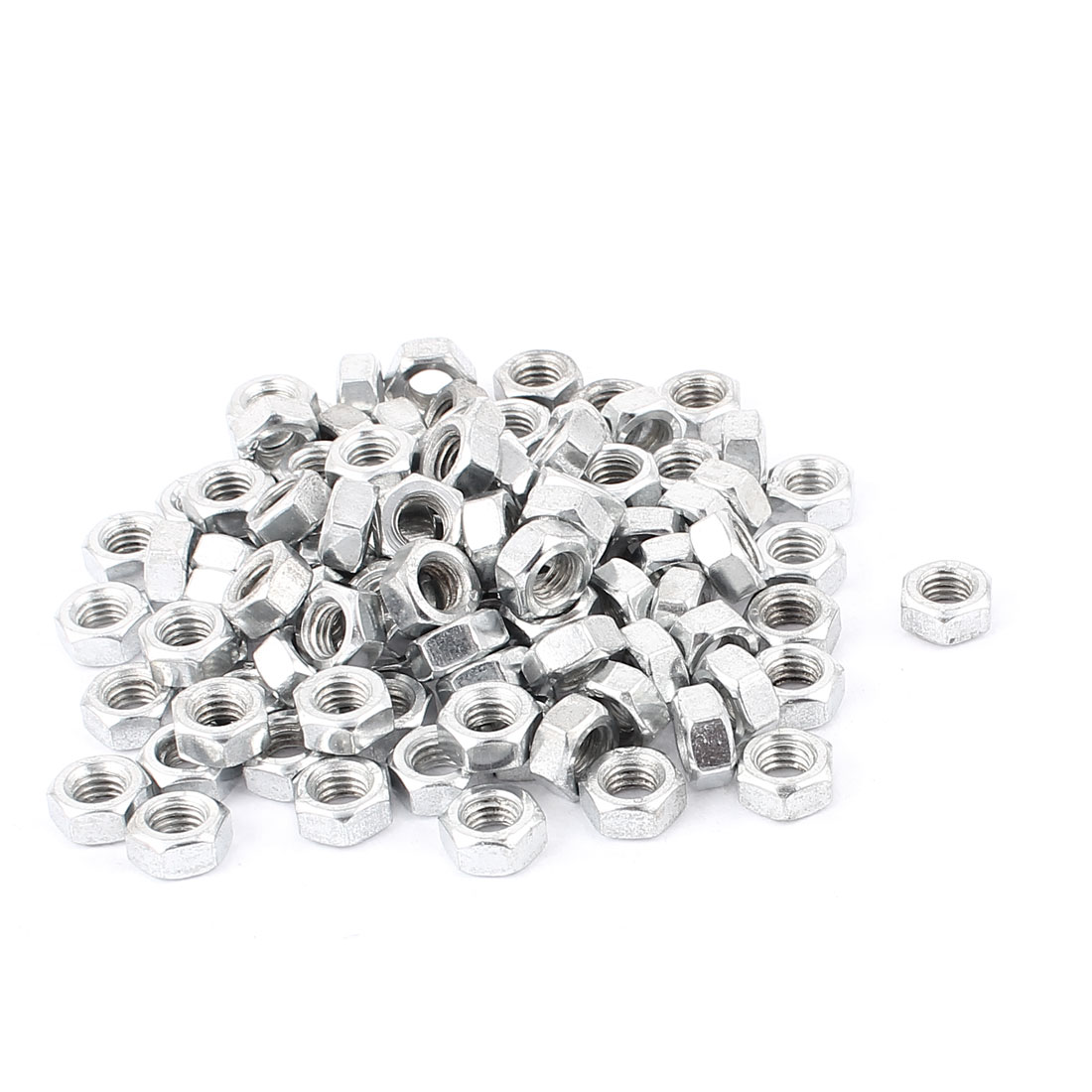 100 Pcs Metric M8 Hex Nuts Stainless Steel Fastener for Screws Bolts