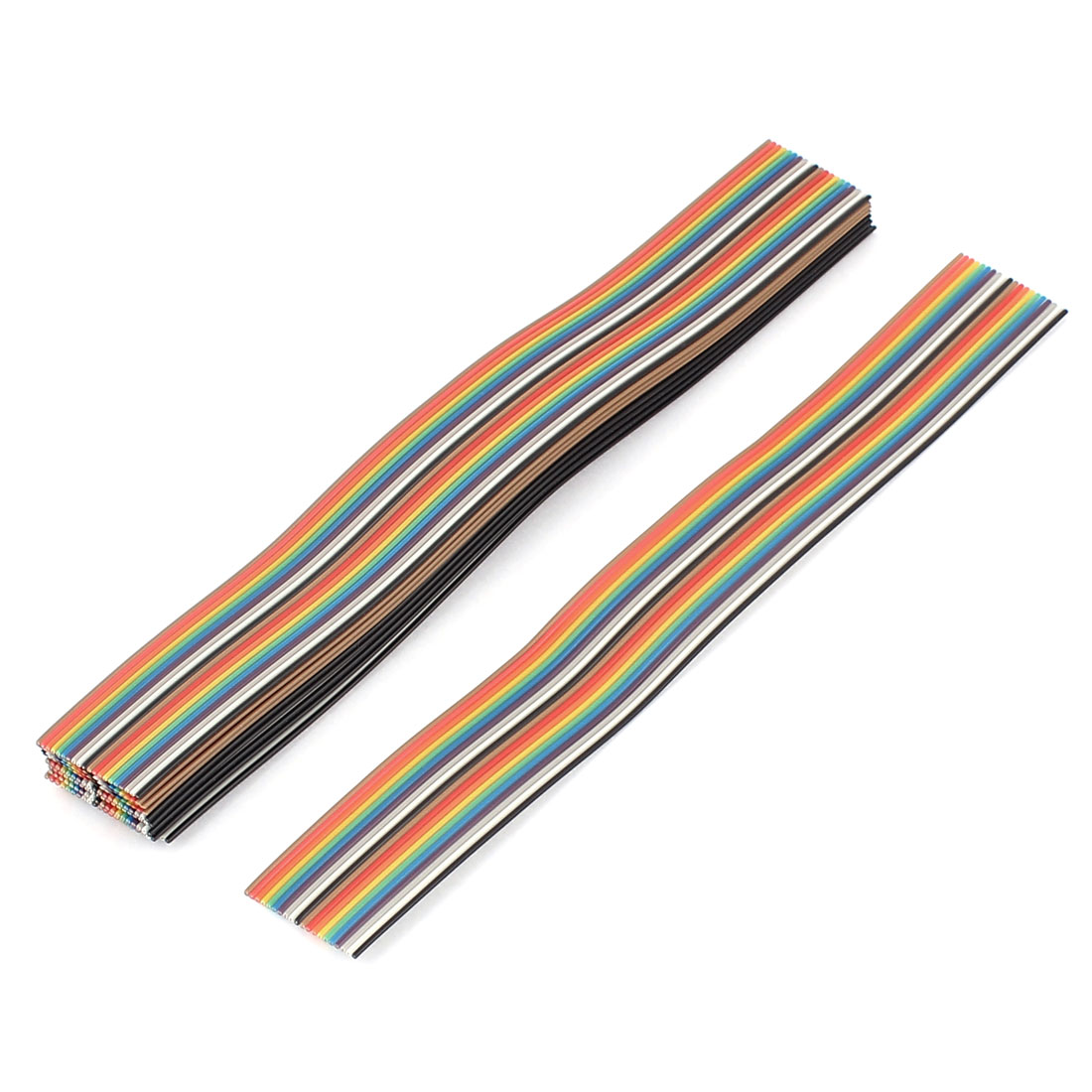 13 Pcs 200mm Long 20-Pin Rainbow Color Flat Ribbon Cable IDC Wire