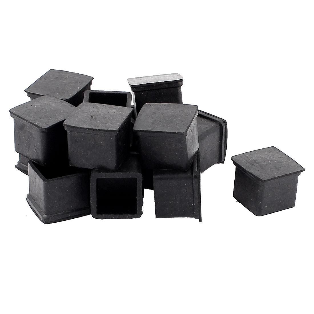 16 Pcs Square Rubber Furniture Table Foot Leg Cover Pad Floor Protector 20mm x 20mm