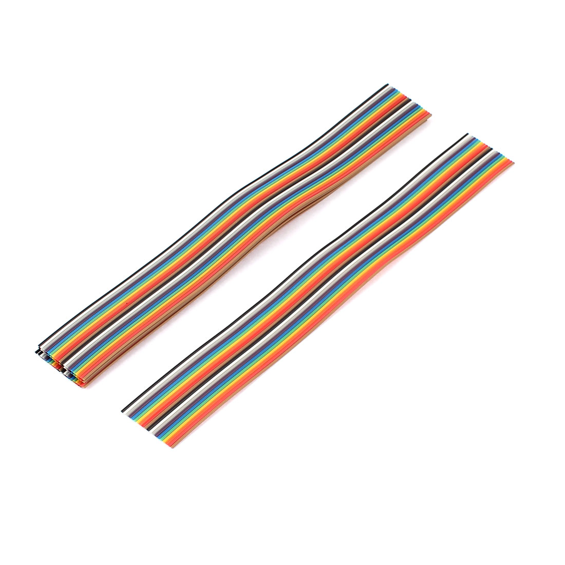 6 Pcs 200mm Long 20-Pin Rainbow Color Flat Ribbon Cable IDC Wire