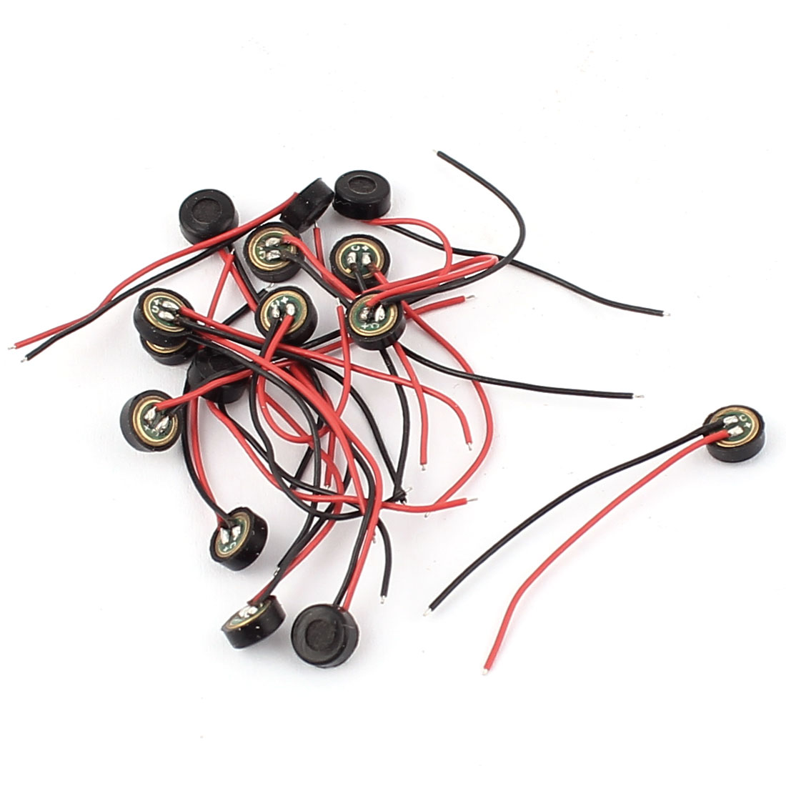 15 Pcs 4.5mm x 2mm Wire Cable MIC Capsule Electret Condenser Microphone