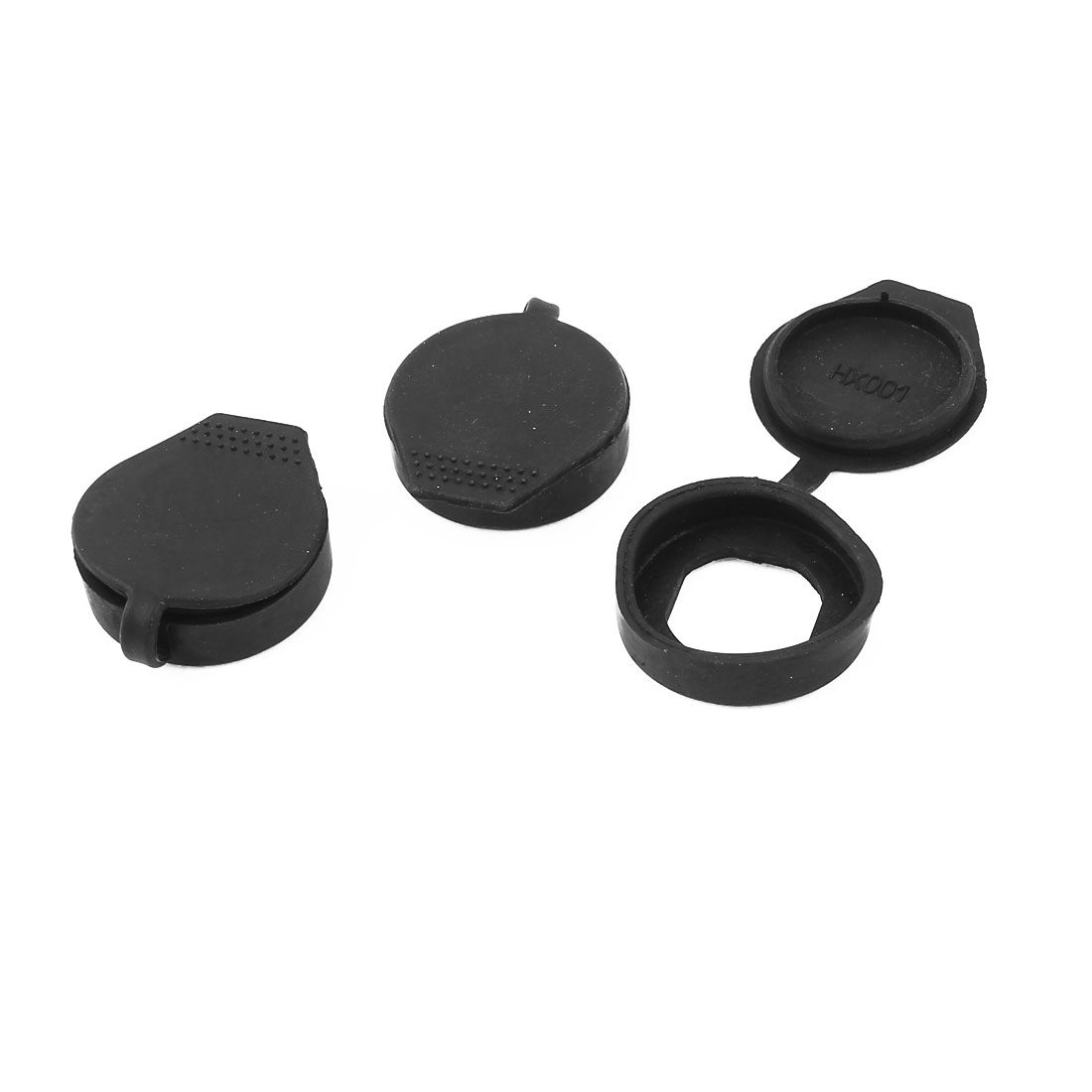 3 Pcs Rubber Key Panel Cam Lock Dust Waterproof Cover Black