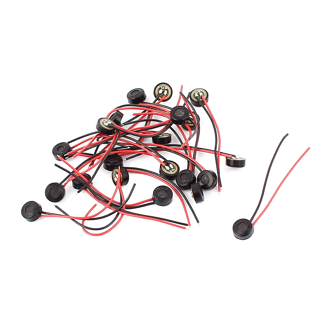 20 Pcs 4.5mm x 2mm Wire Cable MIC Capsule Electret Condenser Microphone