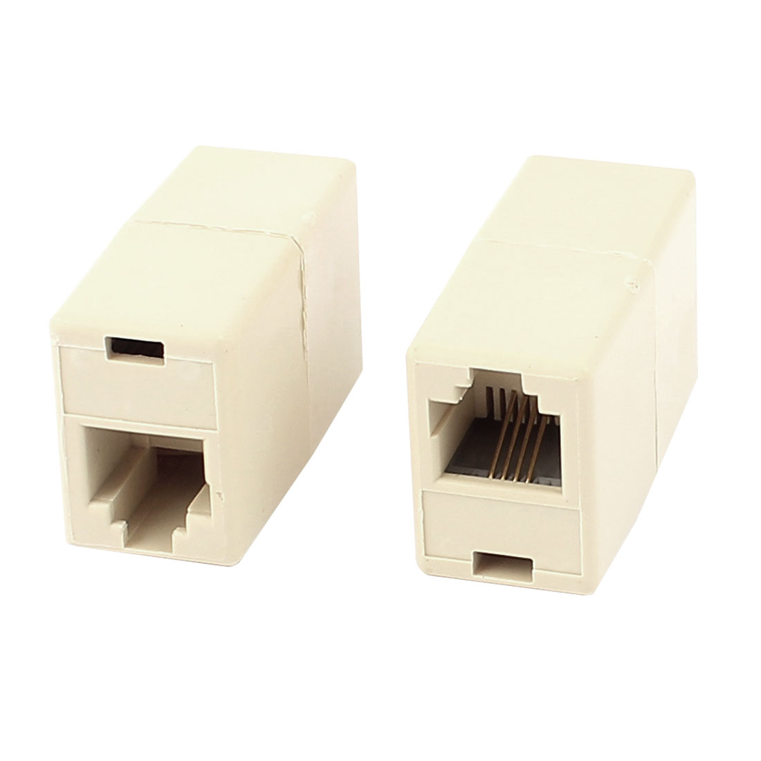 2 Pcs RJ11 6P4C Female to Female Telephone Line Connector Coupler