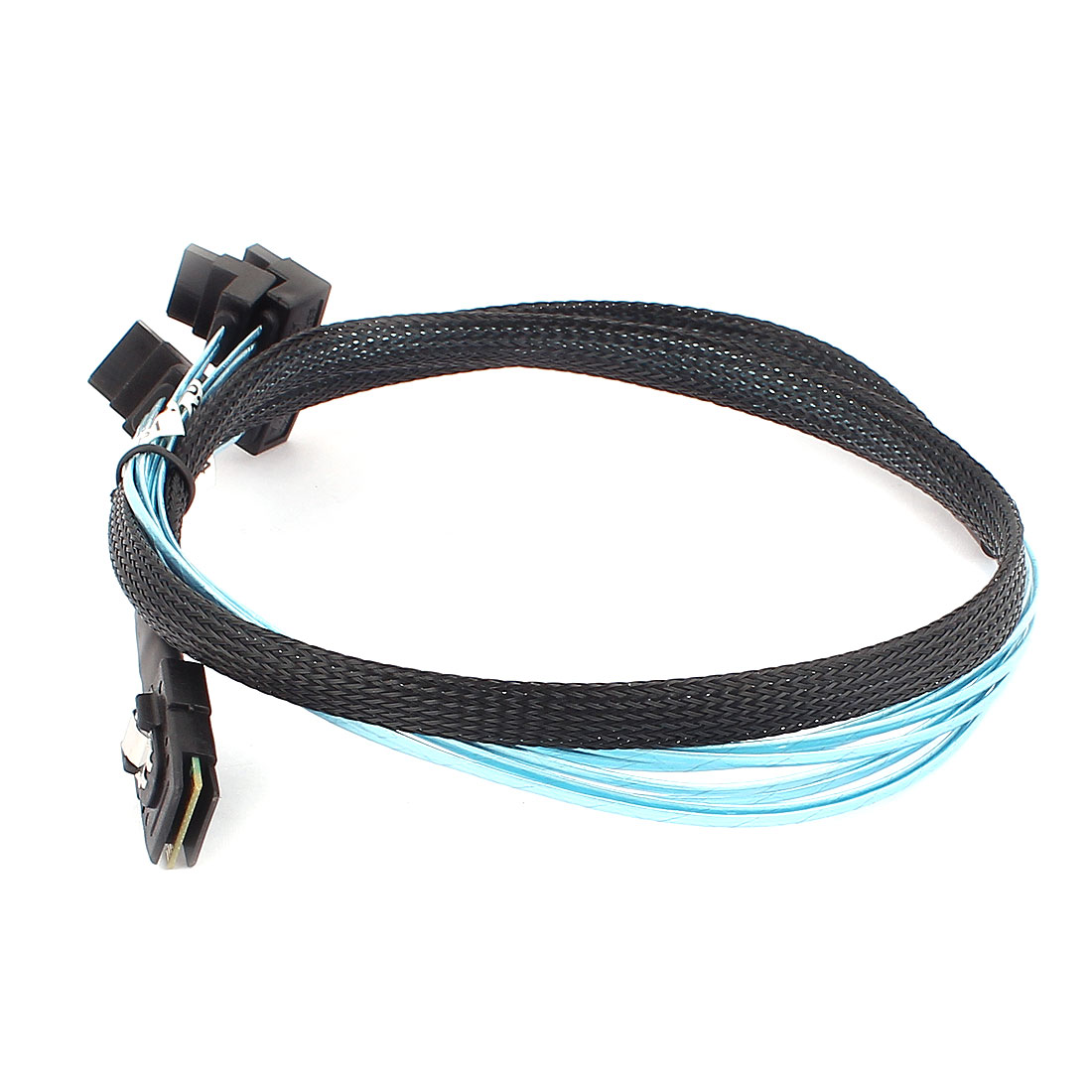 Mini SAS SFF-8087 36-Pin Male to 4 SATA 7-Pin Splitter Adapter Cable 1M