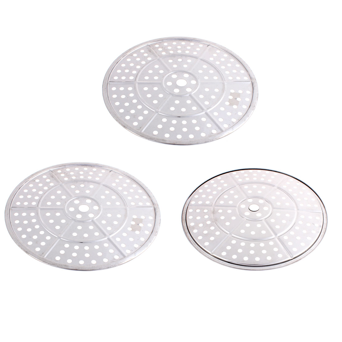 Cookware Helper Stainless Steel Food Steamer Rack Insert Plate 30cm Dia 3pcs