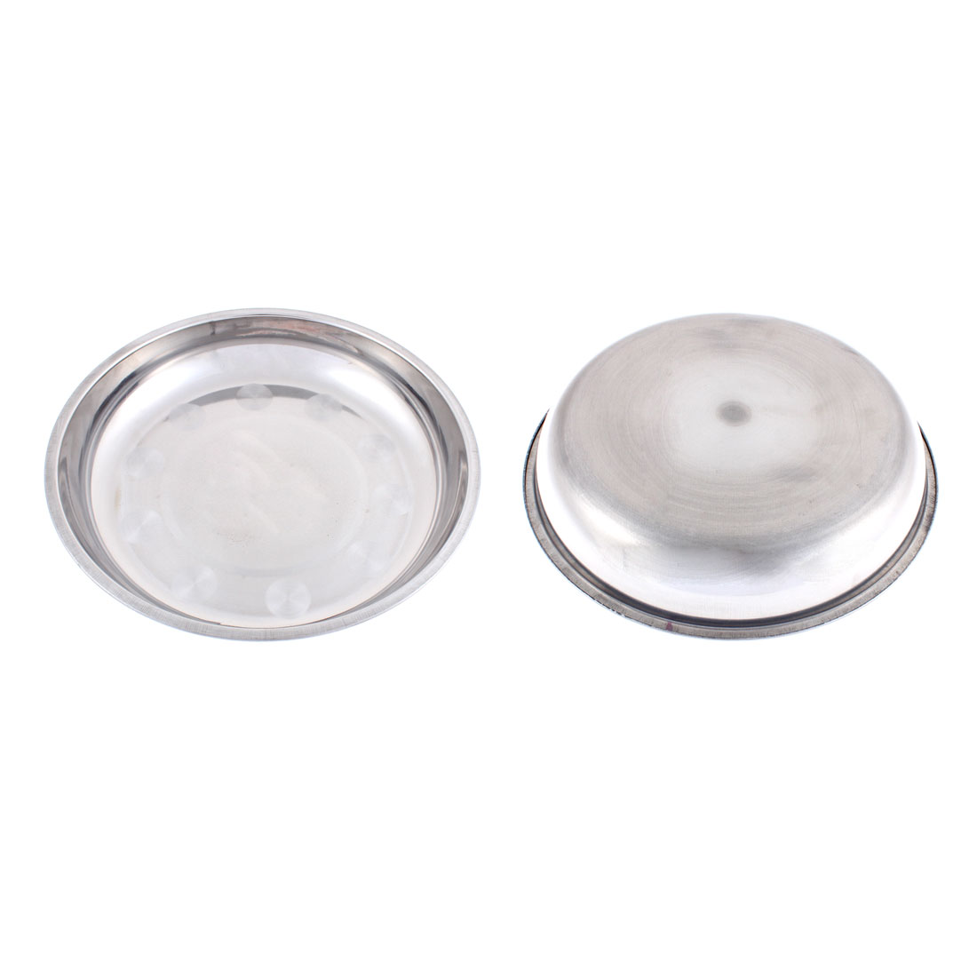 Round Shaped Dish Dinner Plate Holder Containers 24cm Dia 2Pcs