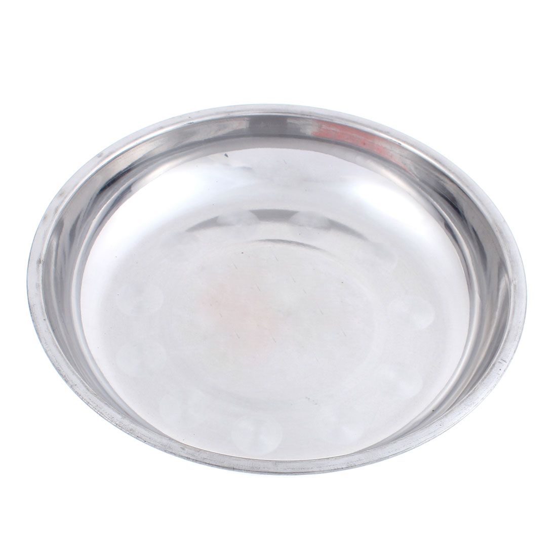 Kitchen Dinner Dish Food Plate Holder Silver Tone 20cm Dia