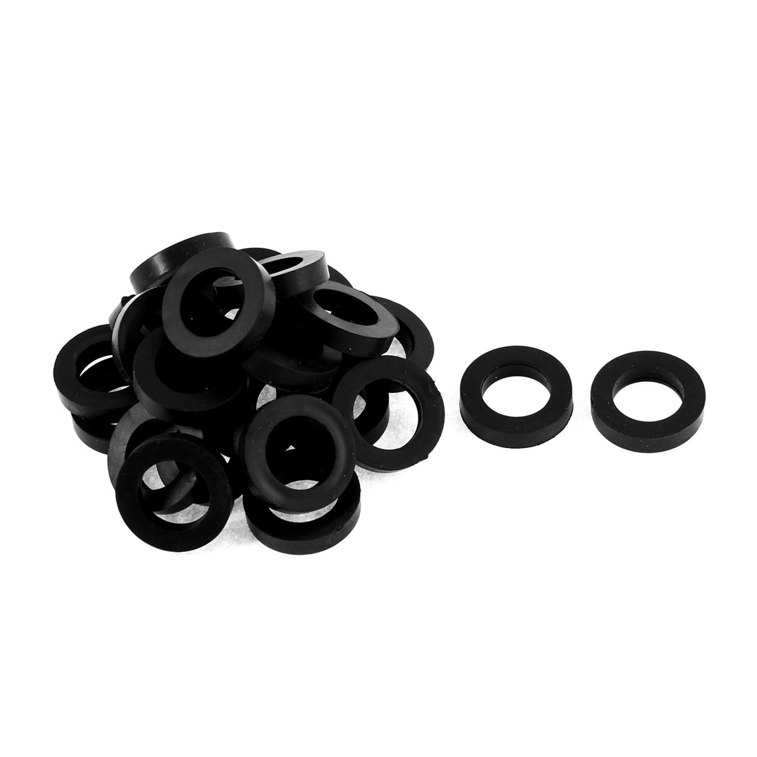 Home Water Faucet Rubber Seal Washer Sealer Black 19mm x 12mm x 2.1mm 25pcs