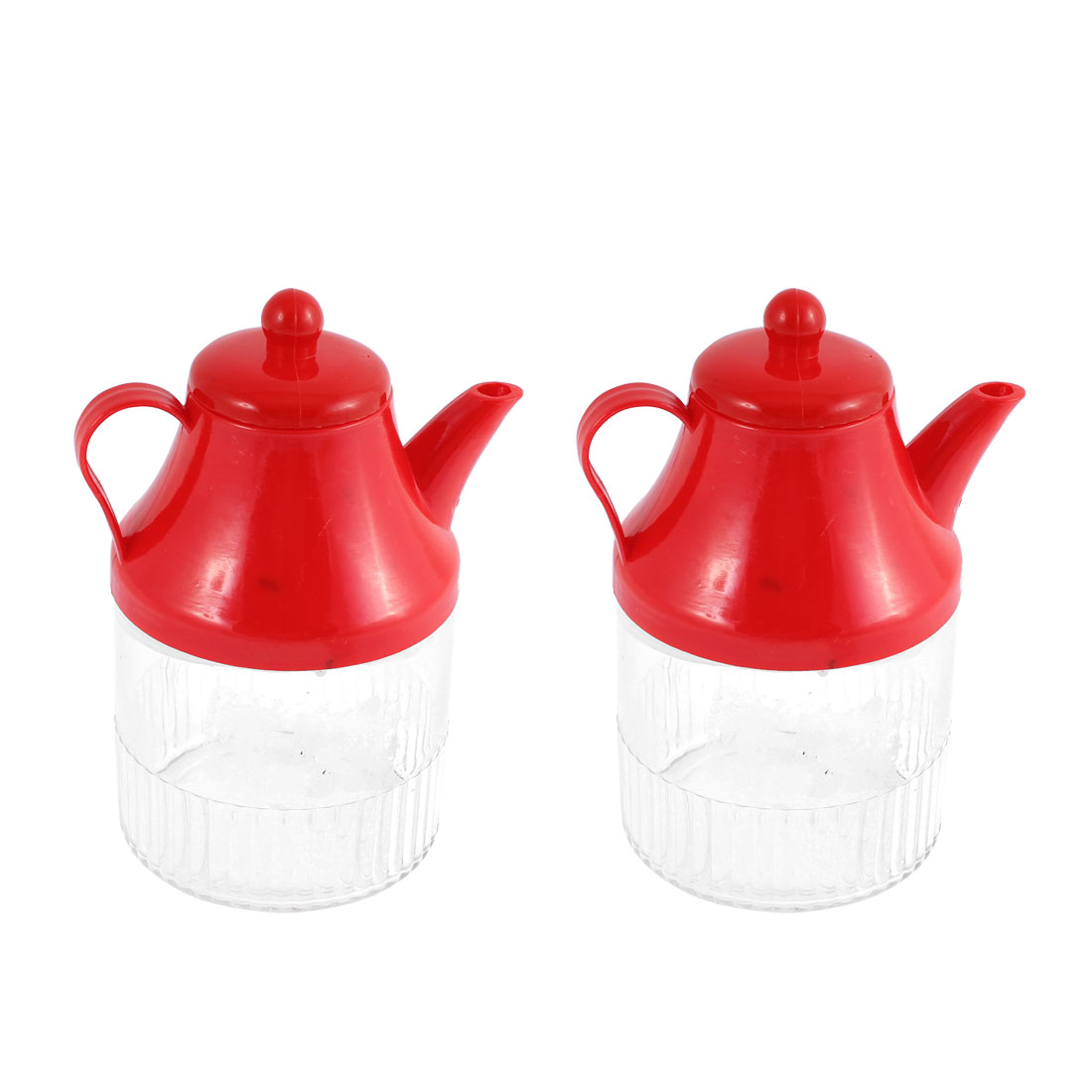 Kitchenware Plastic Liquid Oil Flavoring Soy Vinegar Cruet Bottle Holder 400ml 2 Pcs