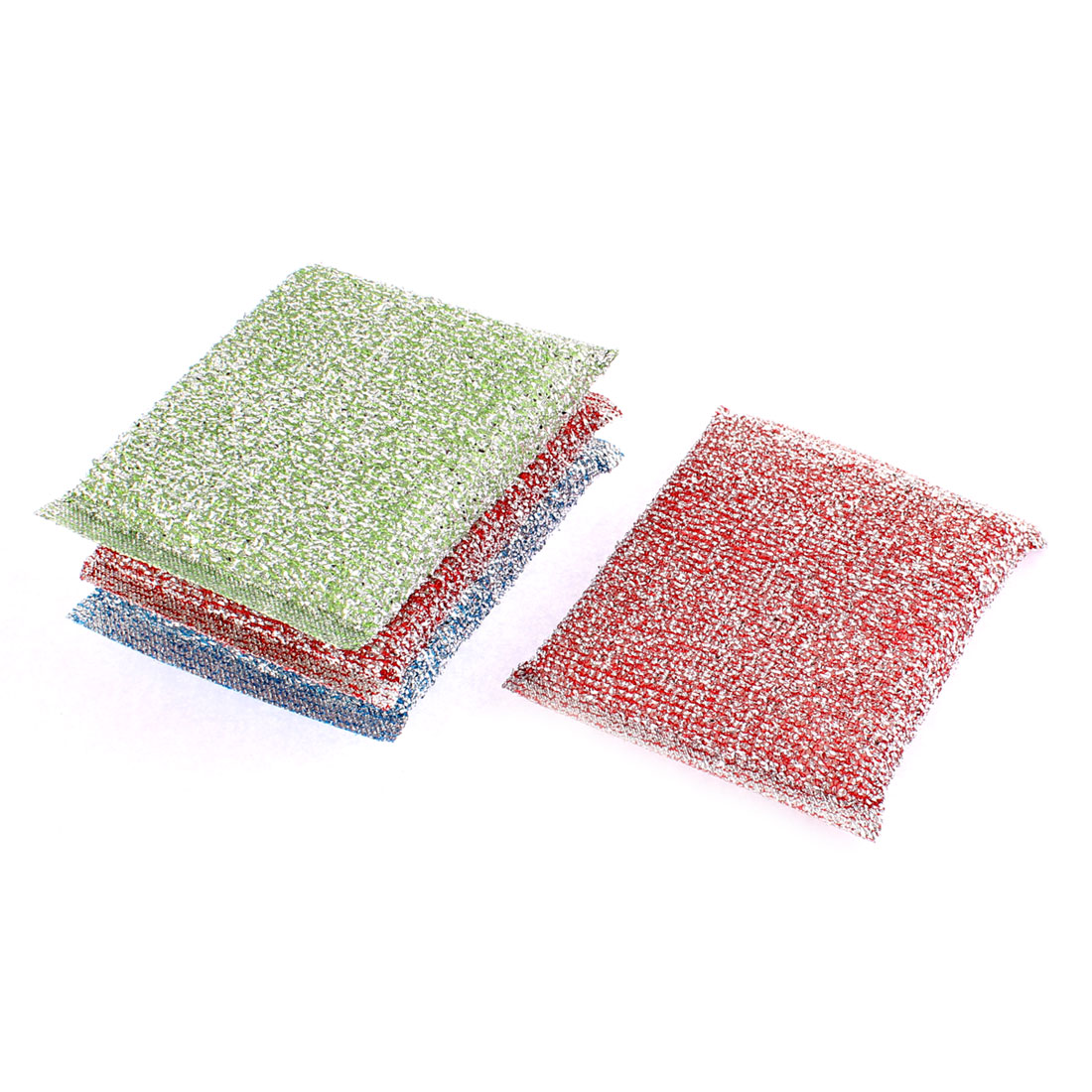 Home Kitchen Dish Bowl Scouring Sponge Pad Cleaner 4Pcs