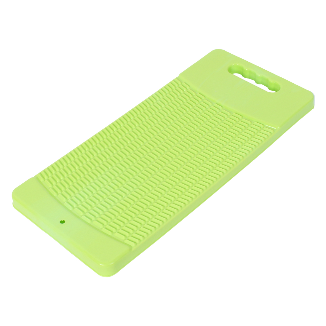 Plastic Rectangle Shaped Washing Clothes Laundry Board Washboard Yellow Green 43cm Long