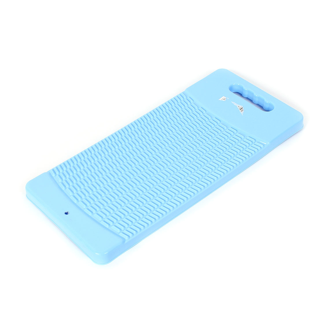 Plastic Rectangle Shaped Washing Clothes Laundry Board Washboard Light Blue 43cm Long