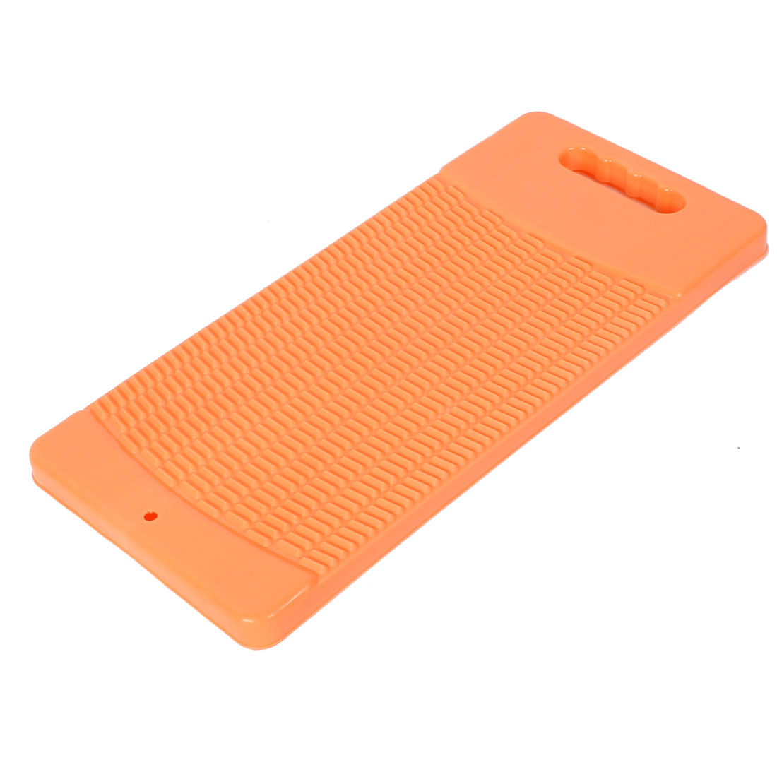 Plastic Rectangle Shaped Washing Clothes Laundry Board Washboard Orange 43cm Long