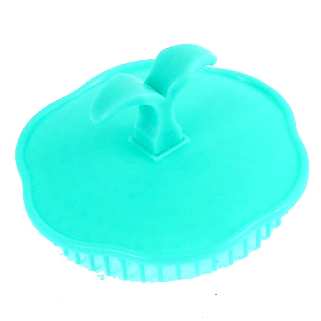 Hair Washing Handheld Flower Design Scalp Massage Brush Comb Seagreen