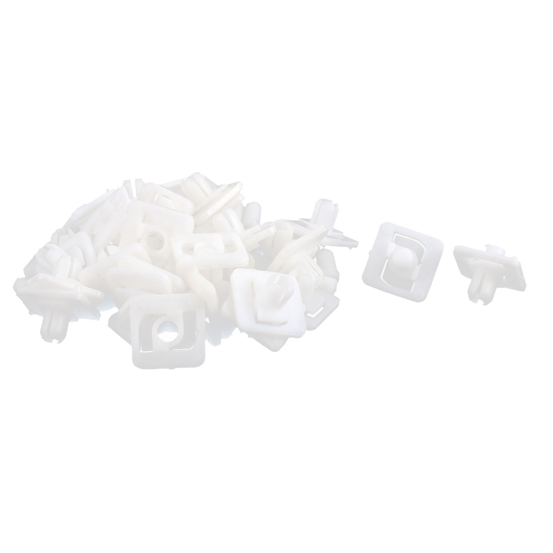 Car Plastic Push Type Retainer Fastener Clip Rivet White 9mm Hole 30pcs