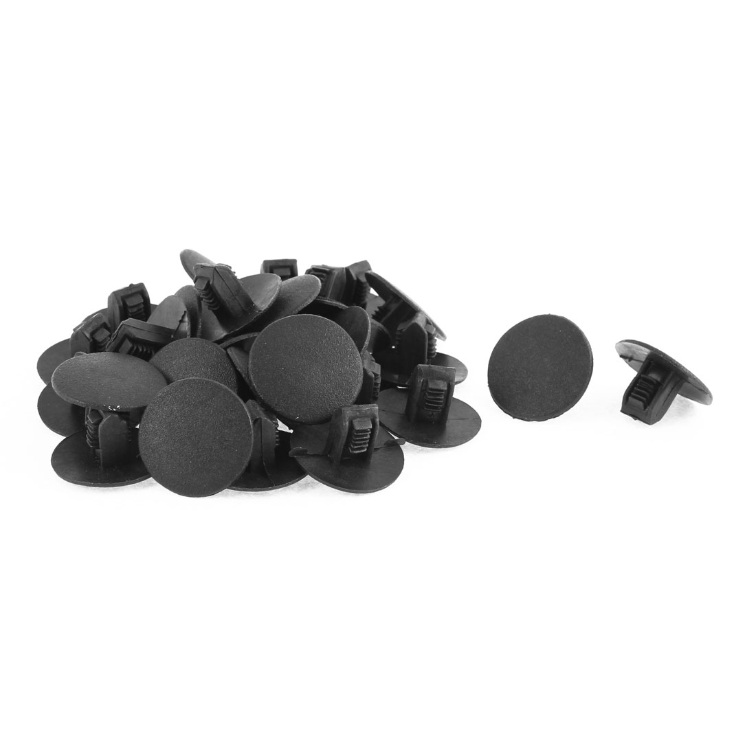 Plastic Splash Guard Defender Fastener Clips Black 9mm Hole 30Pcs