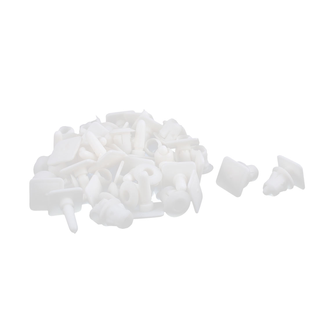 Car Plastic Push Type Retainer Fastener Clip Rivet White 30pcs for Audi