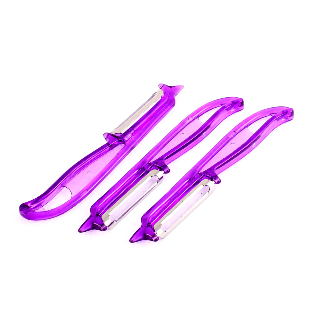 Kitchen Apple Potato Fruit Vegetable Peeler Parer Purple 3Pcs