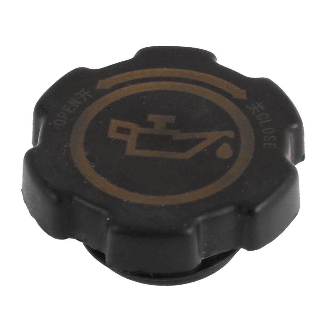Car Engine Oil Filler Fuel Cap Cover Black 35mm Thread Dia