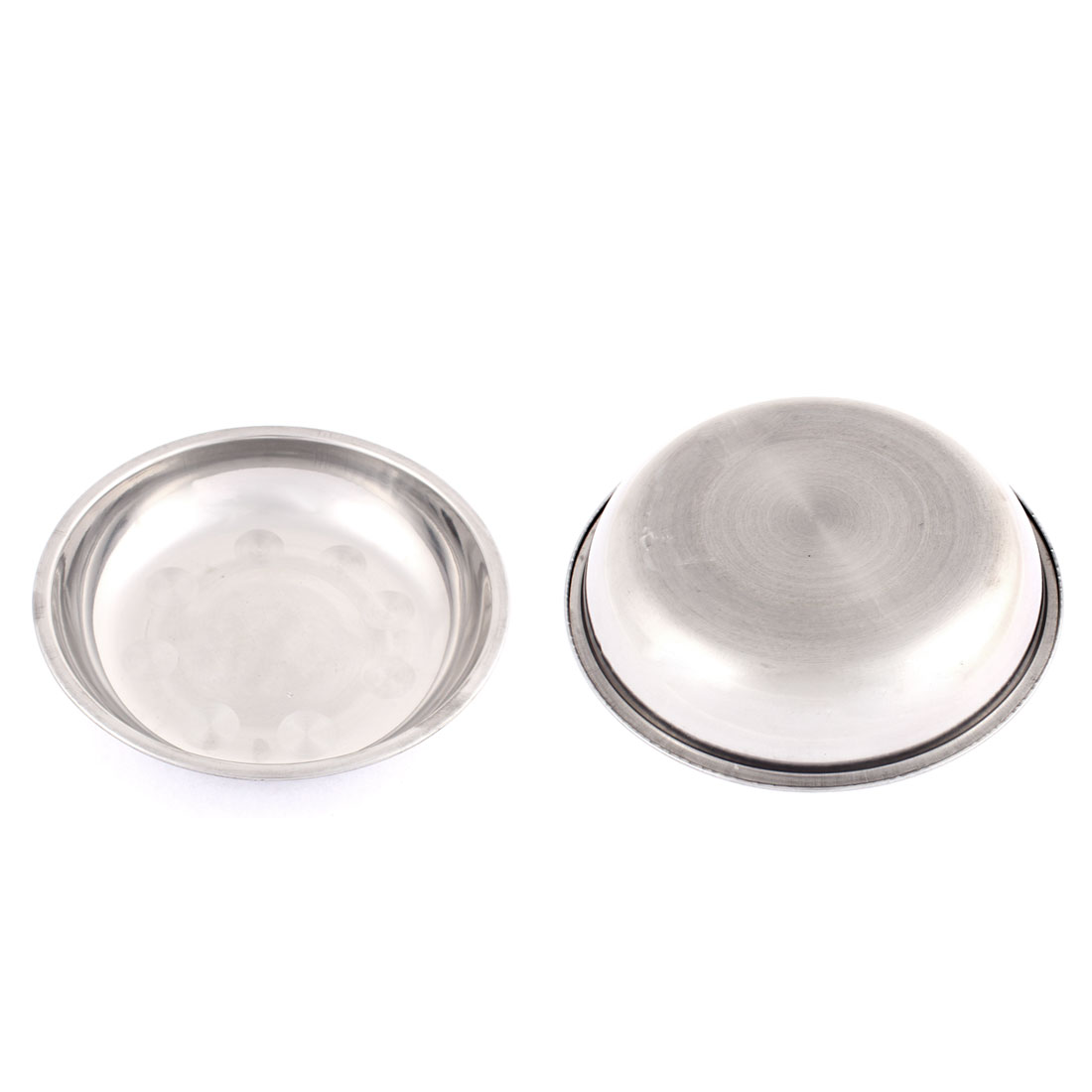 Round Shape Dinner Dish Plate Holder Container 2Pcs