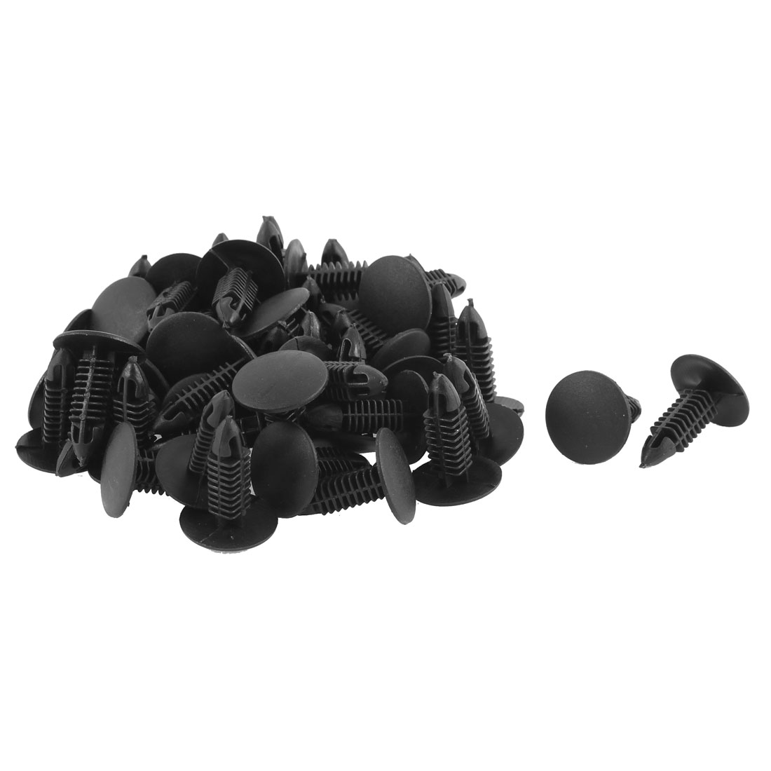 Car Plastic Push Type Fasteners Clip Rivet Black 50pcs for 6 x 7mm Hole Dia