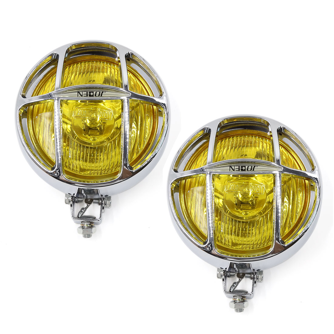 OFF Road Car H3 12V 55W Yellow LED Halogen Lamps Fog Driving Lights 2 Pcs