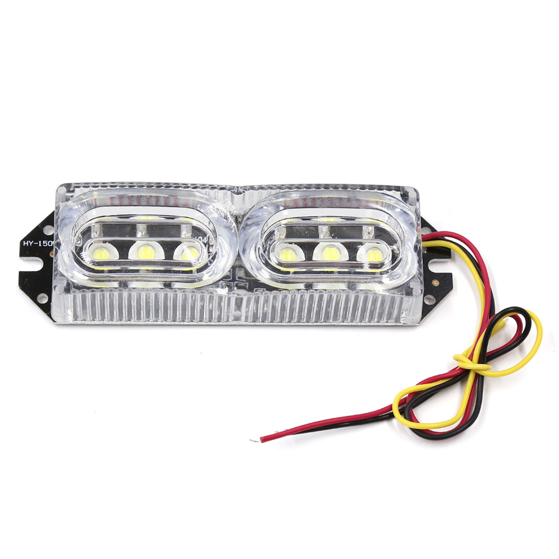 Auto Car Water-proof Celar Shell White 6 LED Turn Signal Light Stop Lamp DC 12V