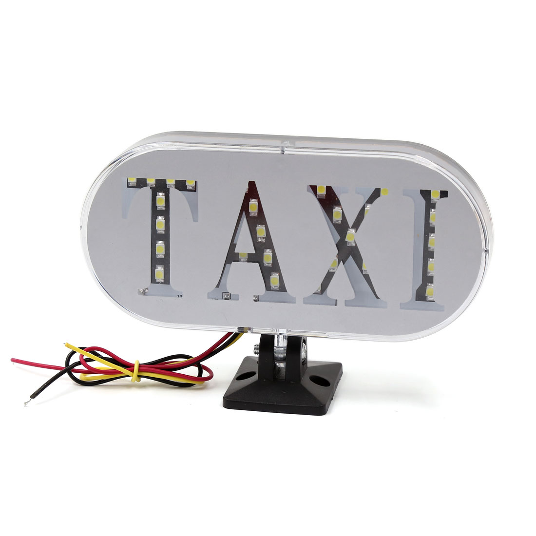 Plastic Shell Rectangular White SMD 32-LEDs Cab Taxi Signal Sign Light Lamp 12V